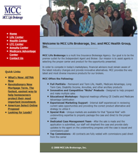 MCC Life Brokerage's Website